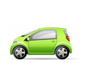 Zielony Samochodzik jedzie nad staw