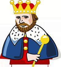 król z berłem - król Lir