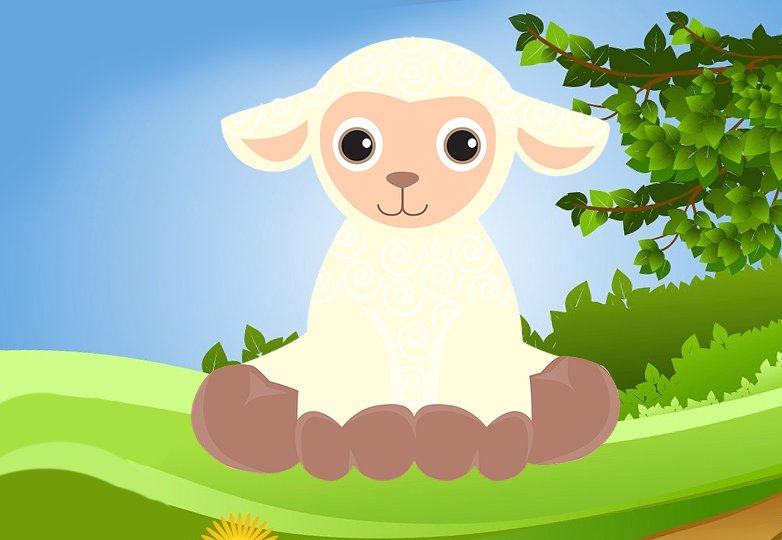 Bajki dla dziewczynek, baka o owcy