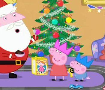 Świnka Peppa odwiedziny Mikołaja