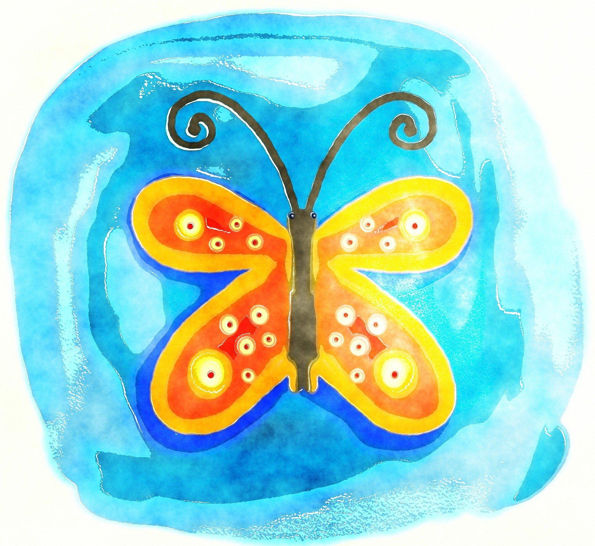 Bajka dla dzieci do czytania pióra motyla