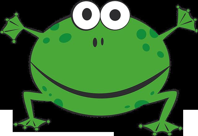 zielona żaba z bajki
