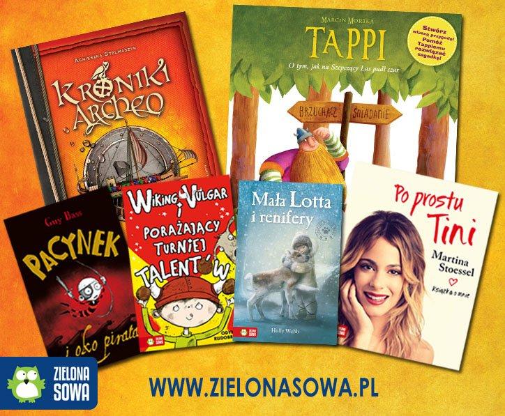 Ksiązki dla dzieci Wydawnictwa Zielona Sowa