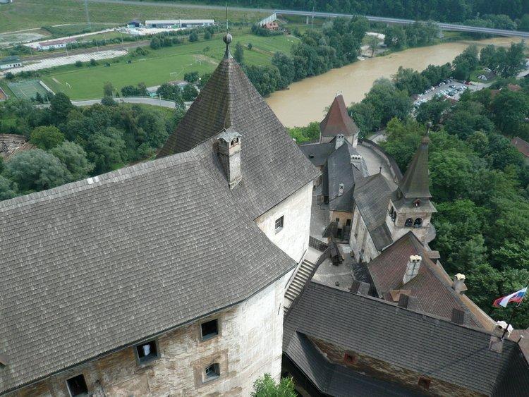 Zamek na Słowacji - wdok z lgóry