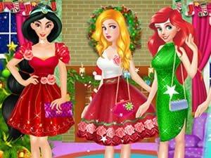 Świąteczne księżniczki – gra online dla dzieci