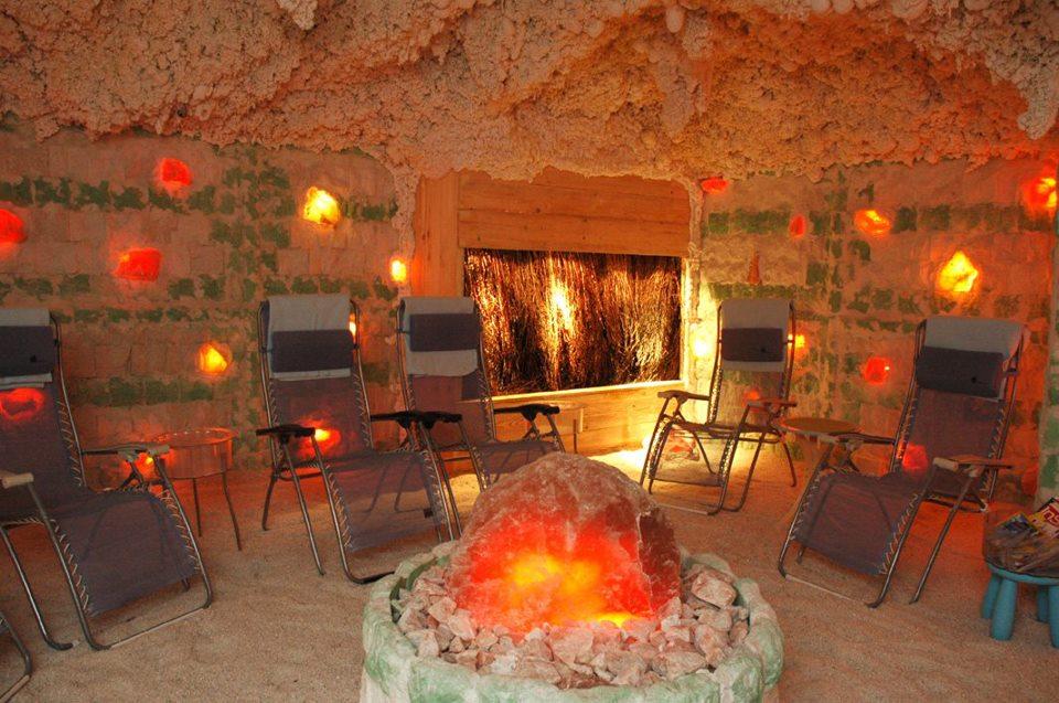 Jaskinia Solna Almonis w Warszawie - wnętrze komnaty solnej
