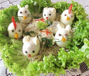 Przepis na faszerowane jajka – zwierzątka