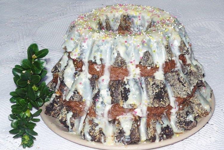 Przepis na babkę makową z czekoladowym kremem