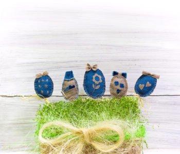 Wielkanocna ozdoba na patyku