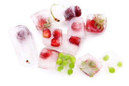 lód z owocami