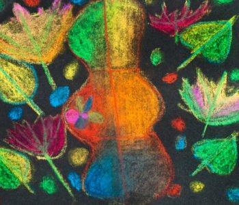 Malowanie na czarnej kartce – kolory jesieni