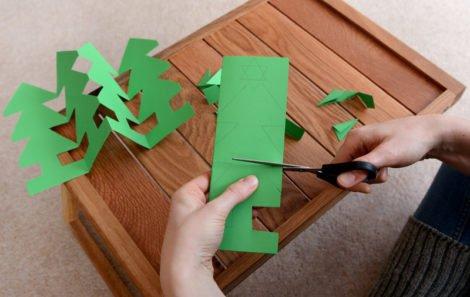 wycinanki z papieru choinka