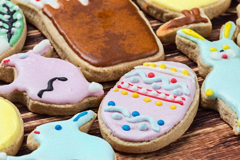przepis na biszkoptowe ciasteczka pisanki