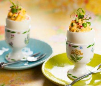 Przepis na jajka faszerowane  kukurydzą