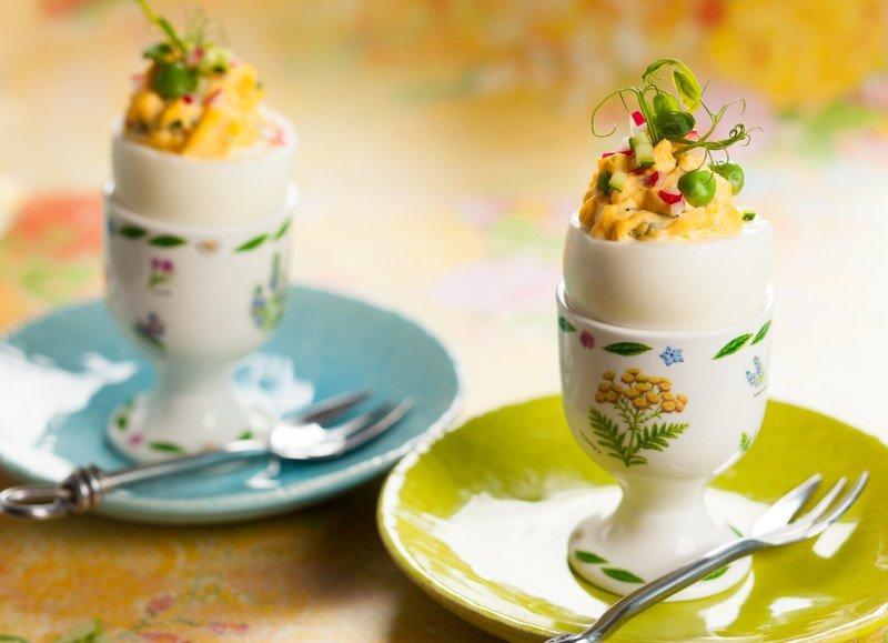 jajka faszerowane kukurydzą
