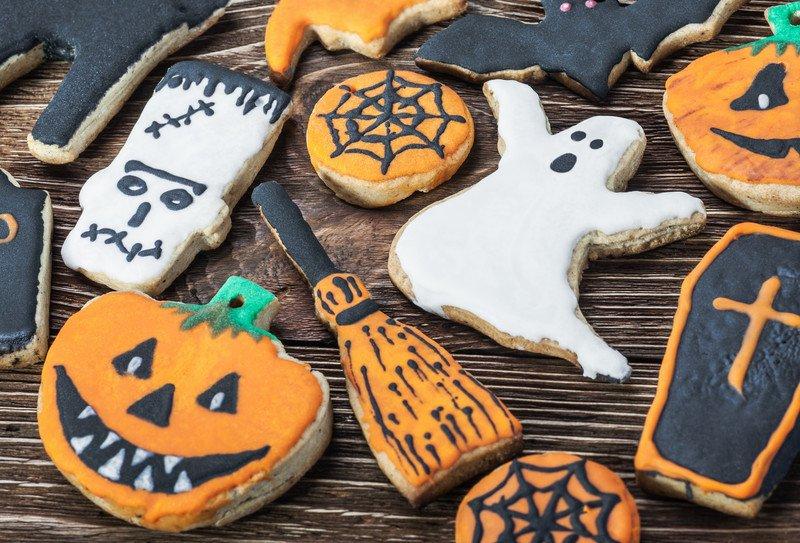 przepis na kruche ciasteczka na Halloween