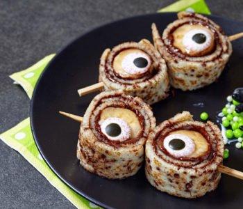 Przepis na naleśniki z bananem i oczami