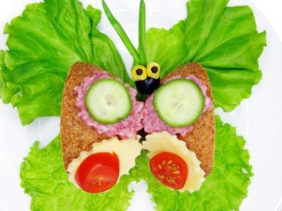 przepis kanapka motylek