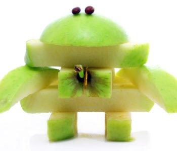 Owocowy deser czyli robot z jabłka