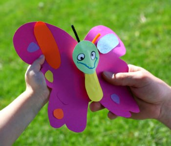 Wesołe motylki – zrób motylka z kolorowego papieru