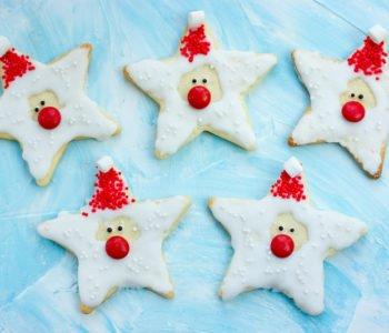 Przepis na ciasteczka gwiazdkowe Mikołaje