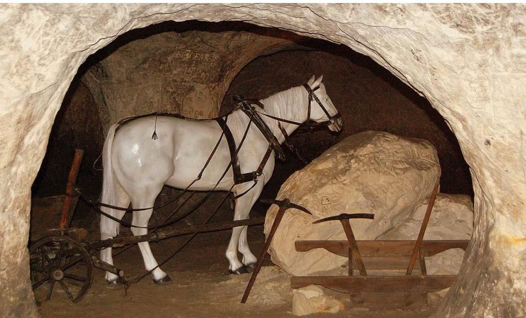 Groty Nagórzyckie - wystawa górnicza