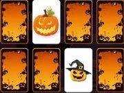 Dekoracje Halloween – Memory. Gra online dla dzieci