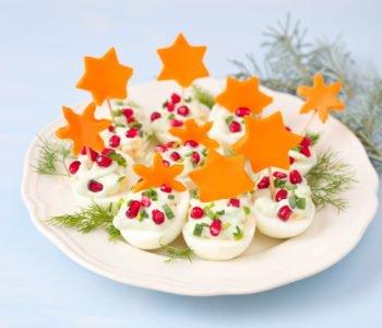 Świąteczne jajka z gwiazdkami