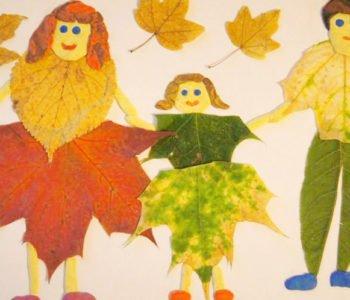 jesienny portret z liści