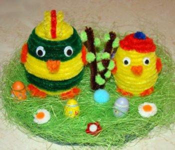 Kurczaczki ze styropianowych jajek