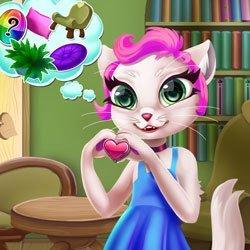 Pokój słodkiego kotka. Gra online dla dzieci