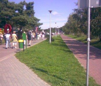 Deptak spacerowy w Brzeźnie