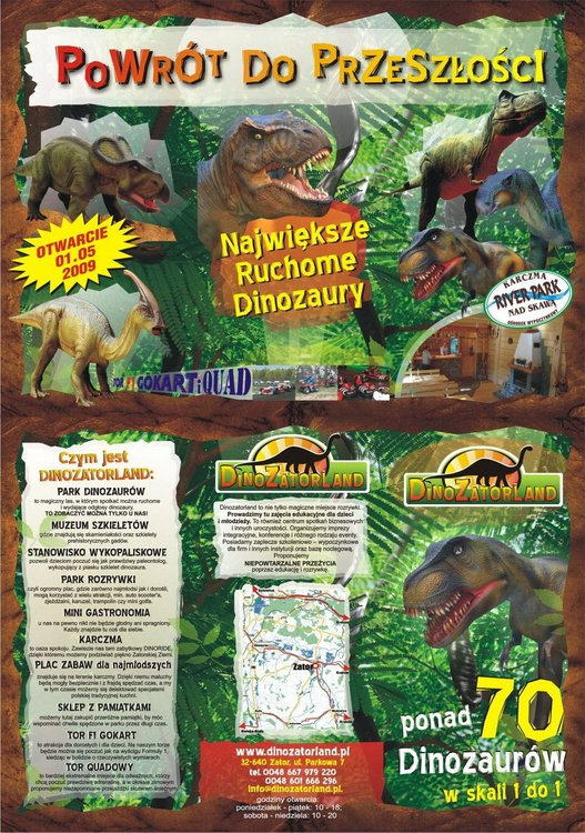 dinozaury w parku dinozatorland