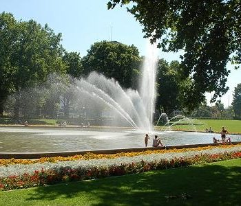 Fontanna w Parku Adama Mickiewicza