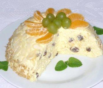 Przepis na torcik serowy z bakaliami – pascha