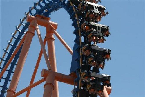 Park rozrywki Warner Bros pod Madrytem rollercoaster