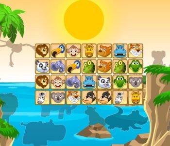 Połącz zwierzęta w pary – gra online dla dzieci