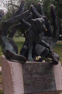 pomnik-psa-dzoka w Krakowie