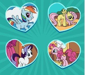 Świat koników Pony. Kolorowanka online dla dzieci