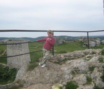 ruiny zamku w Olsztynie - wypad z dzieckiem