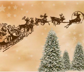 Angielska piosenka świąteczna dla dzieci o Mikołaju Here Comes Santa Claus, tekst i muzyka