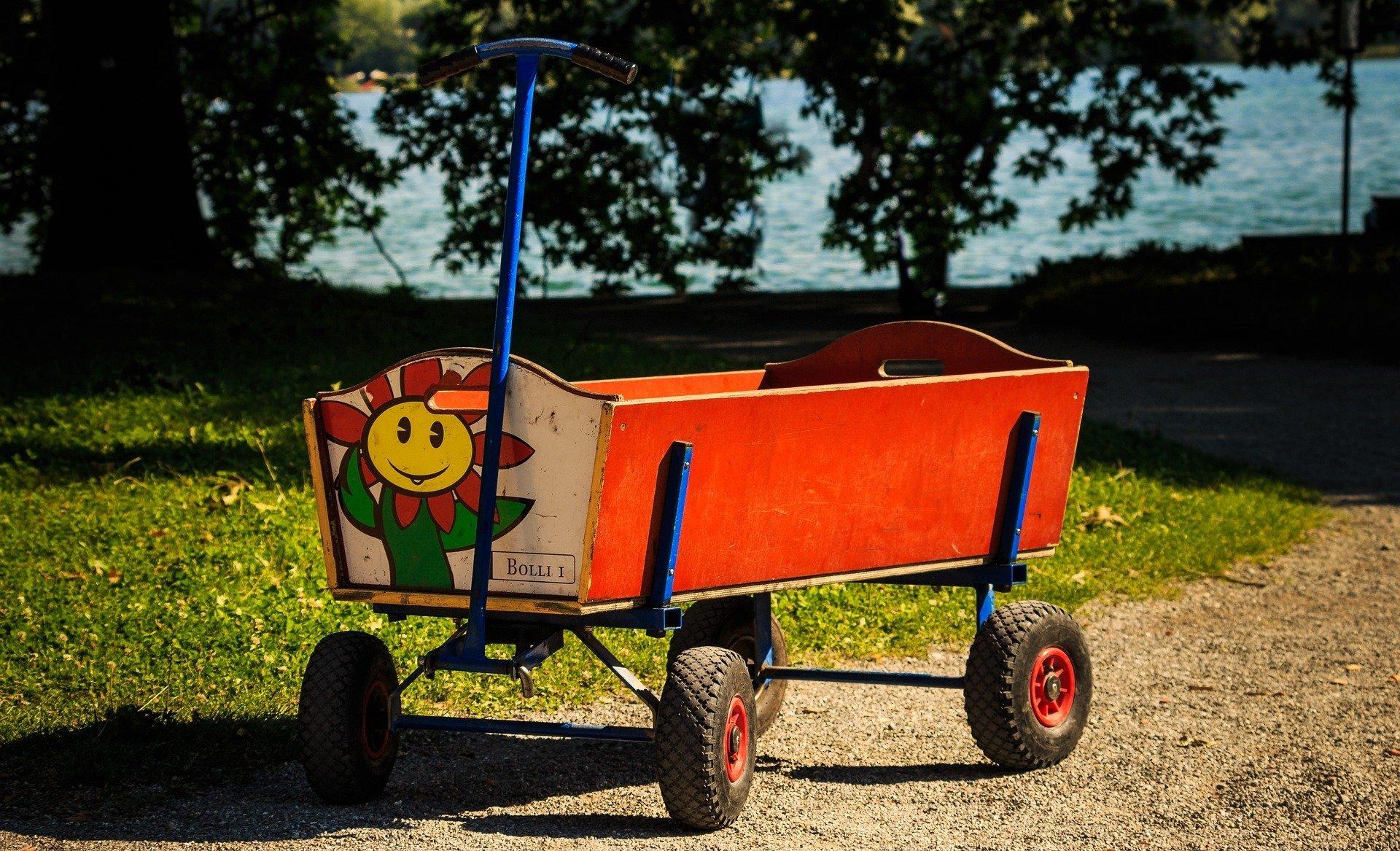 malowany wózek piosenka dla dzieci, tekst i muzyka