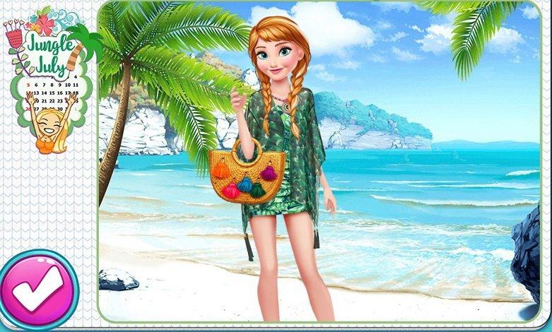 Stylistka mody Krainy Lodu - gra online, ubieranka dla dziewczynek