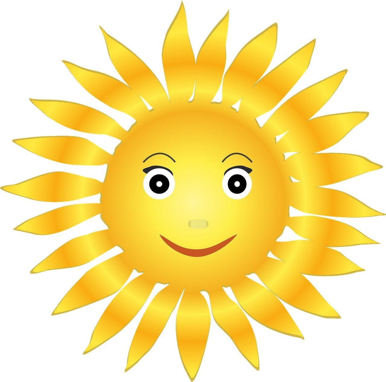 Patrz słońce się śmieje, piosenka dla dzieci na lato, tekst i muzyka