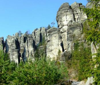 Teplickie Skaly - górski krajobraz