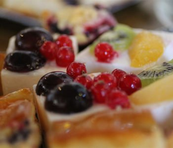 torcik owoce galaretka