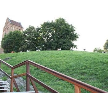Widok na Wisłę i park