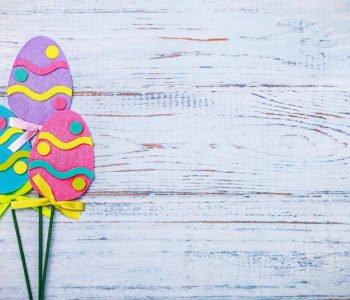 Wielkanocne pisanki z filcu
