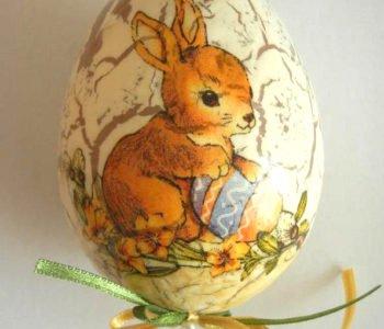 Decupażowe pisanki i ozdoby na Wielkanoc
