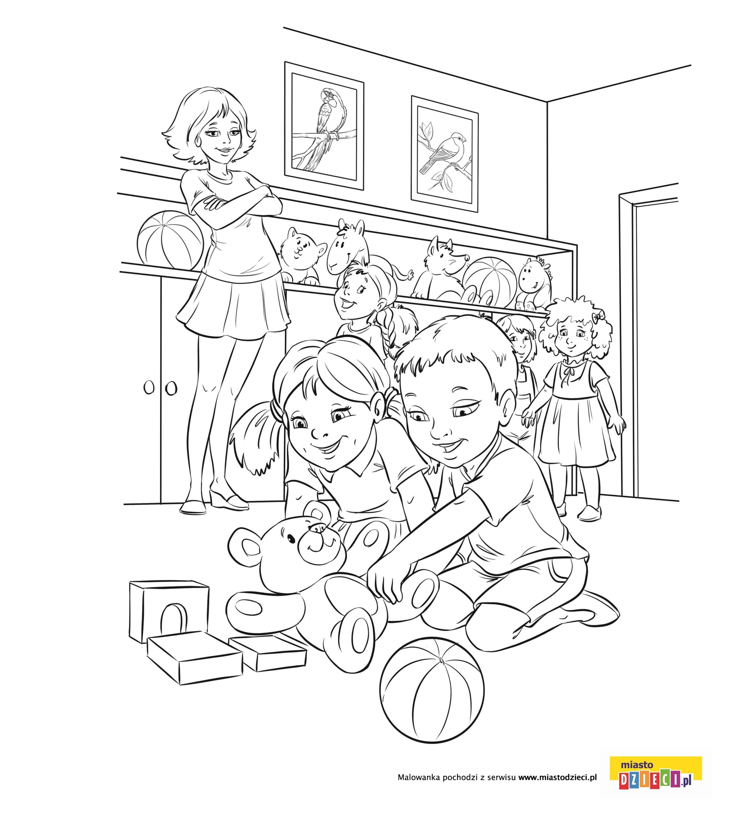 Kolorowanka – W przedszkolu